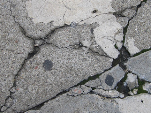 damaged concrete