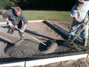 DIY concrete patio using a ready mix provider in Arkansas